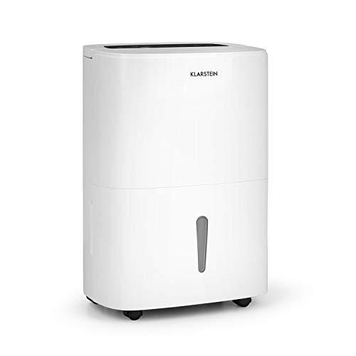 Klarstein DryFy 20 - Luftentfeuchter, Raumentfeuchter, 420 Watt, 20 L/24h, für 40-50 m² (bis 125 m³) Raumgröße, Silent-Modus, leise, weiß