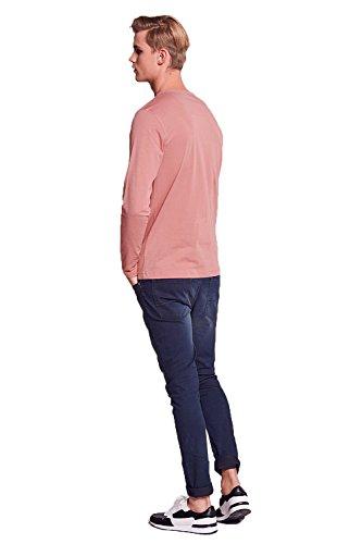 Brave Soul Herren Langarmshirt * Winter Pink