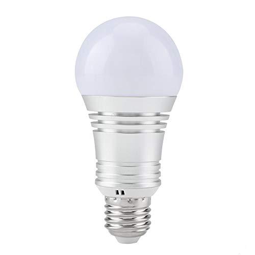 Bombilla LED inteligente, luz de Wi-Fi, bombillas LED multicolores, luz de día y luz nocturna controlada por teléfono inteligente LED de 11W, iluminación para el hogar compatible con Alexa