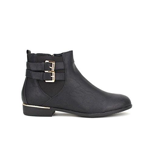Cendriyon, Bottine Noire DANLIS Chaussures Femme Noir