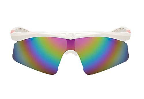 MaxAst Sonnenbrille Motorradbrille Motocross Sicherheitsbrille Damen Weiß Rot