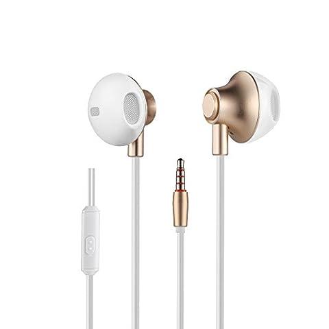 Annulation De Commande - Écouteurs Intra-Auriculaires, Bambud 3.5mm Anti-bruit ergonomique oreillette