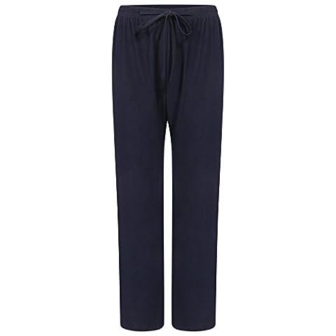 CL Ladies Pack of 2 Crease Resistant Loose Leg Trouser Black & Navy 10-24 (XXL - 22/24, Navy)