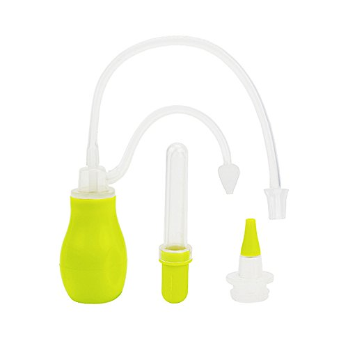 Baby Nasensekretsauger mit Medizin Pipette– IntiPal 2 in 1 Nasensauger Medizin-Pipette Pflegeset für Babys und kleine Kinder (Grün)