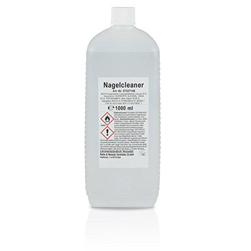 Nail Acryl 1000 Set (N&BF Nagel Cleaner 1000ml – Cleaner für Gelnägel – Nagelreiniger – Nail Cleaner 1L – 70% Isopropanol 30% Wasser kosmetisch)