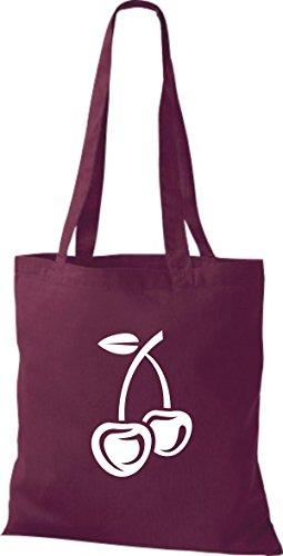 T-shirt Di Stoffa Di Cotone Tinta Unita La Tua Frutta E Verdura Preferita Colore Ciliegio Kelly Vino Rosso