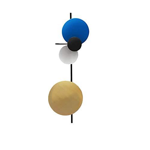KAISIMYS Eisen Wandleuchte Ins Stil Net Wandleuchte Nordic Art Wohnzimmer Schlafzimmer Planet Dekoration Wandleuchten Blau