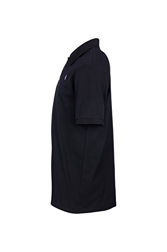 Little Lou Poloshirt Herren Kurzam Regular Fit Polo-Hemd Uni-Farben Einfarbig Schwarz Polokragen Herrenhemd Oberteil Textil I Streetwaer Men Style Schwarz