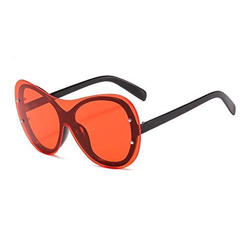 WYJW Sonnenbrille Modische Sonnenbrille, Einteilige, Einteilige, ultraviolette Damenbrille mit rundem Rahmen und Cat-Eye-Brille