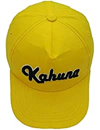 Kahuna- Gorra de Baseball 3D Embossed (Yellow)