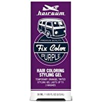 Hairgum Fix Color Temporary Hair Coloring Styling Gel - Purple 1 oz. (Pack of 6)