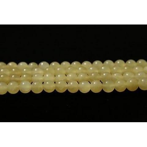 perline sfera rotonda di aragonite (sottile) 6mm (1 serie circa 40 cm)