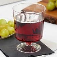Elegante vino prueba gafas–transparente con diseño–2OZ (50ml)–Pack de 10