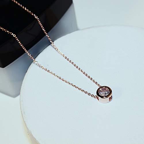 TLLAMG Halskette Einfache Rose Zirkon Choker Halskette Frauen Bijoux Klassische Modeschmuck Großhandel