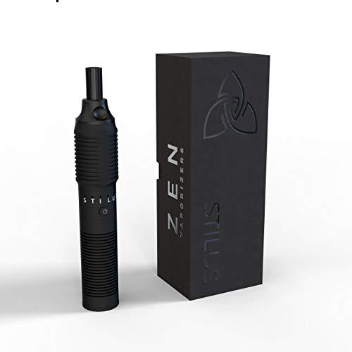 ZEN Vaporizer Verdampfer Stilus Pro V2 + extra Batteriefach schwarzes Glasmundstück 2 Jahre Garantie