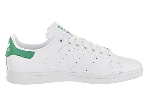 Adidas Stan Smith Cuir Baskets FTWWHT-FTWWHT-GREEN