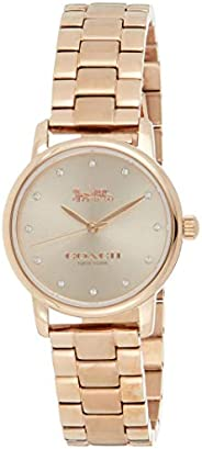 Coach Grand Women's Rose Gold Dial Stainless Steel Analog Watch - 1450