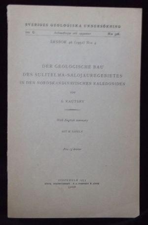 DER GEOLOGISCHE BAU DE SULITALMA-SALOJAUREGEBIETES IN DEN NORDSKANDINAVISCHEN KALEDONIDEN.