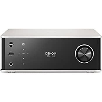 Denon DRA100SPE2 DRA-100 Design Serie Receiver (Spotify Connect, NAS, WLAN, USB, Aux-In, Bluetooth, AirPlay, 2x 70 Watt) alu/Schwarz