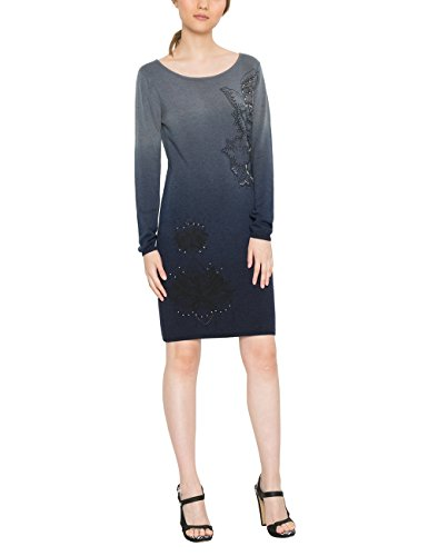 Desigual Damen Kleid VEST_MÁLAGA, Blau (Marino 5001), Gr. M (Herstellergröße:L)