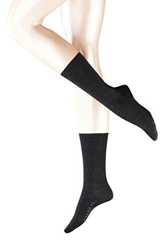 FALKE Damen Socken 47488 Softmerino SO, Gr. 39/40 ,grau (anthra.mel 3089)