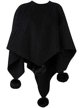 WanYang Moda Irregular Capa De Mujer Abrigo Ligero Y Cómodo De Invierno Diseño Creativo Chal De Chaqueta Para...