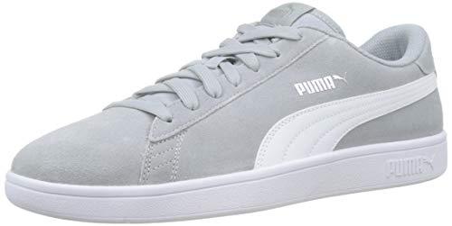Puma Puma Smash v2, Unisex-Erwachsene Sneakers, Grau (High Rise-Puma Silver-Puma White 30), 43 EU Herren Low-top Sneaker