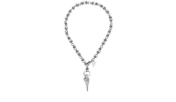 Miss Dee Womens 1micron Silver Plain Heart Charm 21cm Flat Link Chain Fashion Bracelet - in Gift Bag