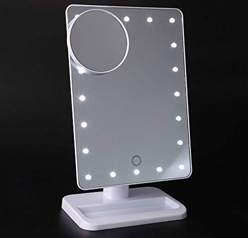 LEDHZJYLW Led Kosmetikspiegel Led Kosmetikspiegel Tabelle 20 LEDs Lampe Leuchtenden Quadratischen...