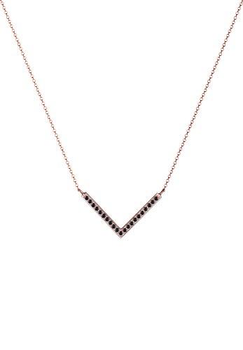 Elli - Collier court - Cristal Swarovski - 45 cm Rose/Noir