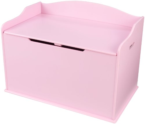 KidKraft 14957 Coffre à jouets en bois Austin, chambre enfant, meuble de rangement - coloris rose
