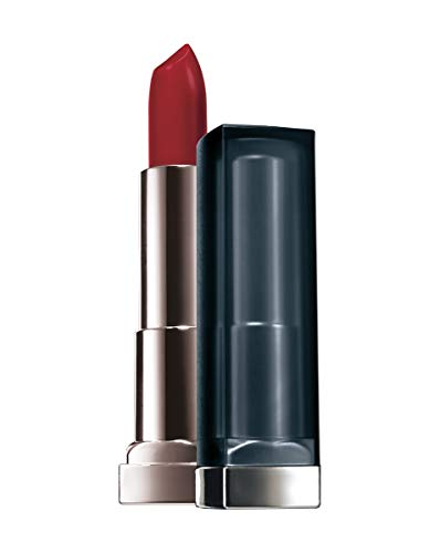 Maybelline New York Make-Up Lippenstift Color Sensational Creamy Mattes Lipstick Siren in Scarlet / Elegantes Rot mit mattierendem Finish, 1 x 4,4 g