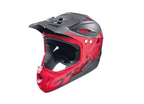 Alpina Radhelm Fullface, Rot (Black/Red), 57-58, 9689432