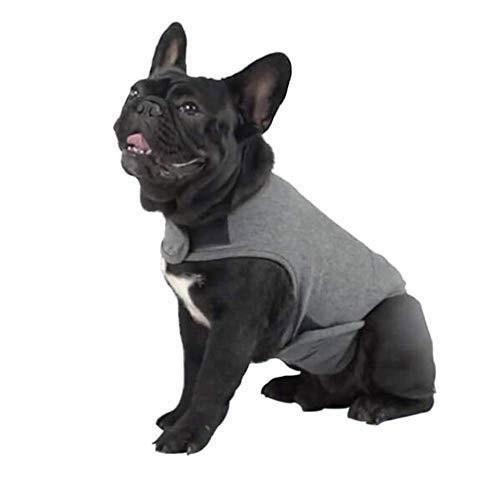V.JUST Haustiere Angst Weste Mantel für Hund Beruhigen Shirt Wrap, Hund Angst Jacke Lightweight Wrap Angst Mantel Instant Therapie,Gray,S