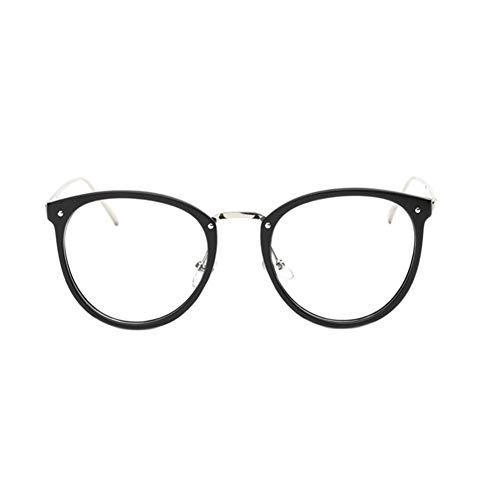 BFLHBBF Spiegeln Eyewear Cat Eye Frauen und Männer Harz Linsen Optische Gläser Metallrahmen Eyewear Gläser