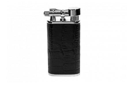 Pfeifenfeuerzeug Exclusiv Pearl Stanley mit geprägtem Rindleder -