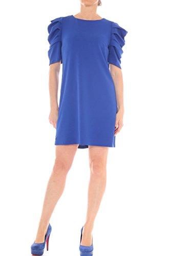 Vestito corto in jersey stretch maniche a palloncino Bluette