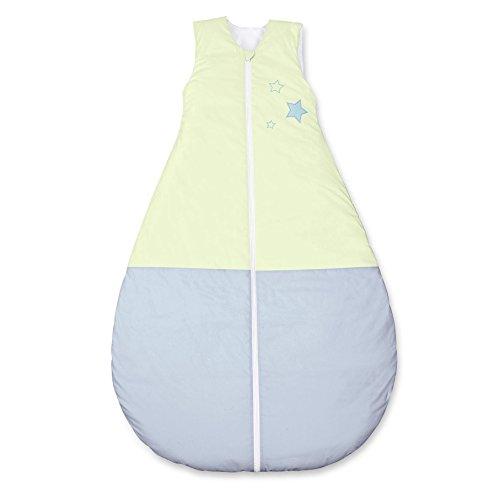 Sterntaler Schlafsack für Kleinkinder, Ganzjährig, Wärmeregulierung, Reißverschluss, Größe: 130, Emmi, Grün/Blau