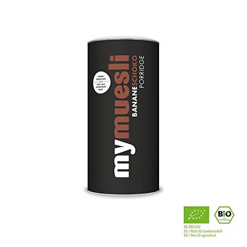 mymuesli Porridge - Bio Haferbrei - 400g - 10 Portionen - Hergestellt in Deutschland aus 100{78fafa3312ec32d71c25ee72efb08985db853303c21a3c105f588a3933d5832e} Bio-Zutaten (Banane-Schoko-2x)