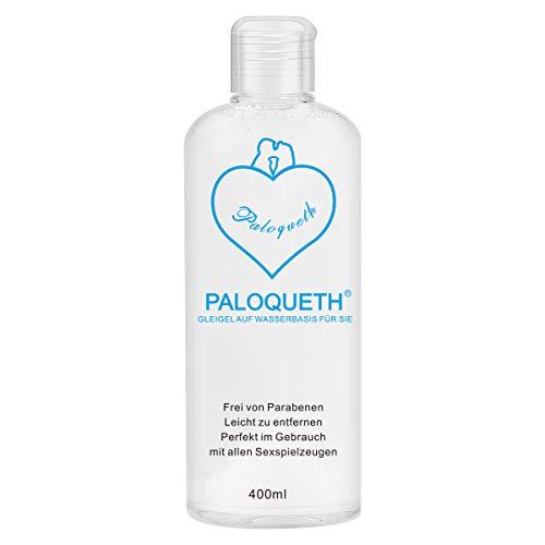 PALOQUETH Gleitgel für Frauen 400 ml, Personal Lubricants Gleitmittel auf Wasserbasis, Parabenfrei, Hypoallergen