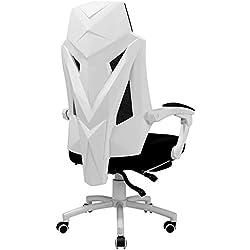 Axdwfd Chaise longue Chaise longue, chaise de jeu de massage, avec chaise de bureau de style de course ergonomique, adaptée au fauteuil de jeux et grand fauteuil pour inclinaison de joueur réglable en