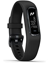 Garmin Large vivosmart 4 Smart Activity Tracker with Wrist-Based Heart Rate and Fitness Monitoring Tools- Black