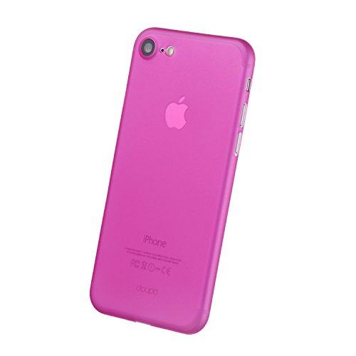 "iPhone 8 / 7 ( 4,7"" ) Hülle, doupi UltraSlim Case [ Kabelloses Laden Unterstützt ] Ultra Dünn Fein Matte Oberfläche Handyhülle Cover Bumper Schlanke Schutz Schale Hardcase für iPhone 8 ( 2017 ) / iPho Pink"