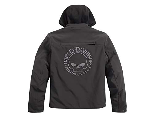 HARLEY-DAVIDSON Reflective Skull 3-in-1 Soft Shell Riding Jacke, 98164-17EM, XXL
