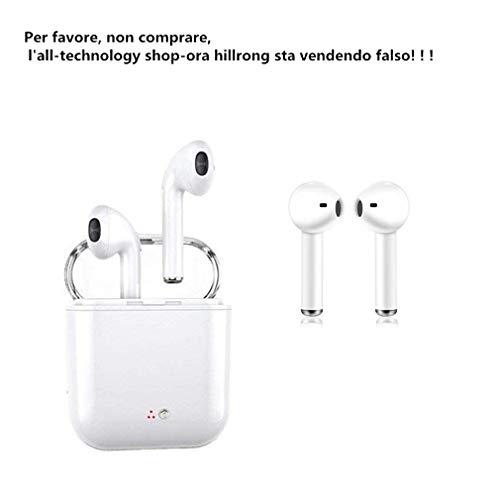 Auricolari Bluetooth, cuffie stereo con microfono e cancellazione del rumore, auricolari sportivi, compatibili con la maggior parte degli smartphone Android.