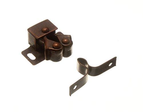 Onestopdiy.com - Chiusura per armadietti e porte con 2 rotelle, effetto antico, confezione da 8