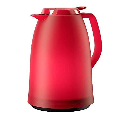 Emsa 514503 Isolierkanne, 1 Liter, Quick Tip Verschluss, 100% dicht, Pink-Rot, Mambo