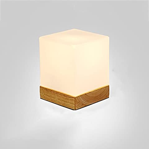 Solid Wood Desk Lamp-XCH Dazzling DL-E27 High Quality Glass Lampshade