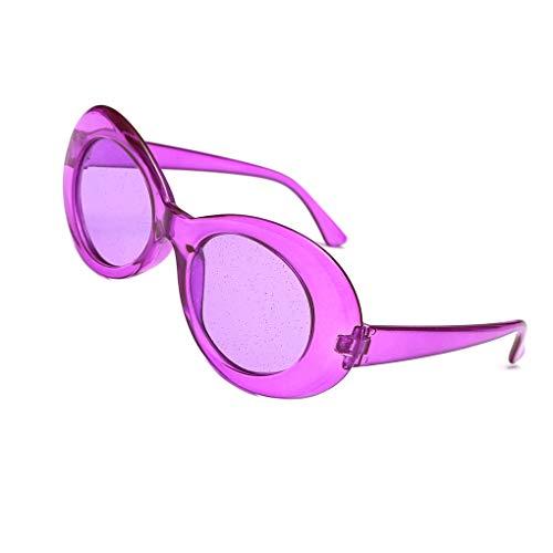 Luckiests Frauen Glitzer-Objektive Oval Sonnenbrillen Süßigkeit-Farben-transparente Rahmen UV400 Shades Brillen Sequin Sonnenbrillen