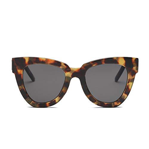 REALIKE Unisex Damen Herren Sonnenbrille Klassische Übergroße Rund Rahmen Brille Mode Leopardenmuster Sunglasses Frauen Mehrfache Farbauswahl Super Cool Travel Eyewear
